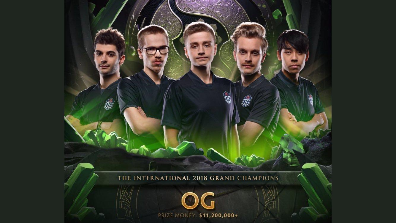 OG The International 2018 Dota 2 grand champion team