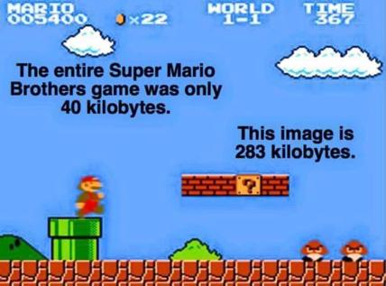 Mario kilobytes
